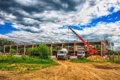 Building under construction with hdr effect Royalty Free Stock Photo