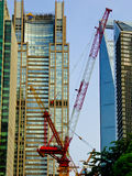 Building under construction in lujiazui of Shanghai Stock Photography