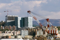 Building under construction. Near Genoa's airport Royalty Free Stock Photography