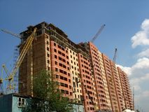high rise building under construction Stock Photography