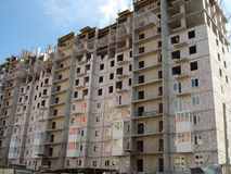 high rise building under construction Stock Images