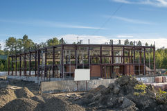 Building under construction. New building for sport under construction Royalty Free Stock Image