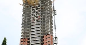 Building under construction. In Panama City stock footage
