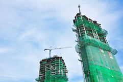 Building under construction in perspective Stock Images