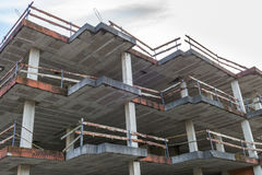 Building under construction residential house Royalty Free Stock Photography