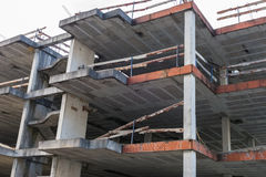 Building under construction residential house Royalty Free Stock Image