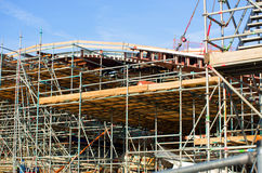 Building under construction with scaffolding Royalty Free Stock Image