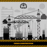 Building under Construction site,Construction infographics Vecto Royalty Free Stock Images