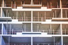 Building under construction - construction site of new building.  Royalty Free Stock Photography