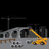 Building under Construction site,. Vector illustration Stock Photography