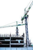 Building under construction site,  on white. Background Stock Images