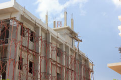 Building is under construction on sky background Stock Image