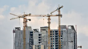 Building Under Construction. Timelapse video stock video