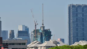 Building Under Construction, Timelapse stock video footage