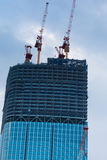 Building under construction in Tokyo Stock Photo