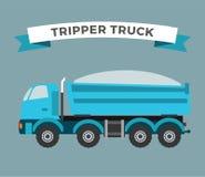Building under construction tripper truck machine Stock Images
