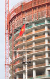 Building under construction in Vietnam Royalty Free Stock Images