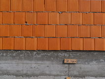 Building under construction. Wall tile just built by construction company Royalty Free Stock Photography