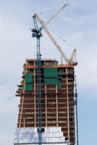 Building under construction. On west Manhattan, New York City, USA Stock Photo