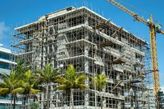 Free Building Under Contruction At Mauritius Royalty Free Stock Photography - 163754377