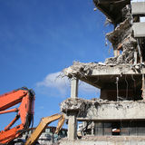 Building under demolition Royalty Free Stock Image