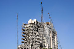 Building under demolition Stock Photography