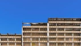Building under demolition Royalty Free Stock Photos