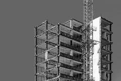 Building under demolition Stock Images