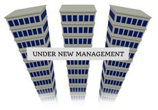 Building under new management Royalty Free Stock Photography