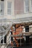 Building under renovation. House in London under renovation Stock Photography