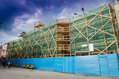 Building under restoration Royalty Free Stock Images