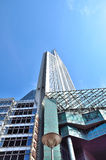 Building under sky. Modern buildings with blue sky background in financial center of shanghai Stock Images