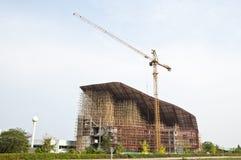 Building underconstruction. Public official hospital building underconstruction Stock Images