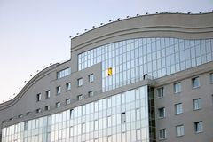 Building of the university. Belgorod, glows one window Stock Photography