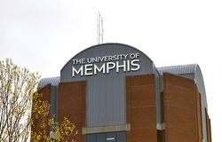 Building at The University of Memphis. Administration Building at the University of Memphis in Memphis, Tennessee Stock Image