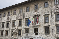 Building of University on Piazza dei Cavalieri in Pisa Royalty Free Stock Images