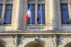 Building of the University of Sorbonne Stock Photography