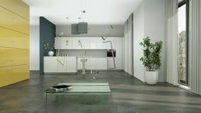 Building up modern living room interior design 3d