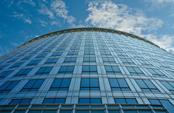 Building Upright View. A view up the side of a building with sky showing Royalty Free Stock Photo