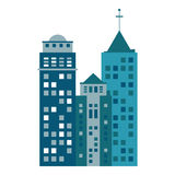Building urban skyscraper antenna. Illustration eps 10 Stock Image