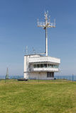 Building used for marine communications at German Helgoland island. Building used for marine communications at Helgoland island, Germany stock image