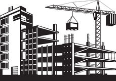 Building in various stages of construction Stock Photography