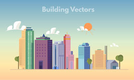 Building vector color Royalty Free Stock Photography
