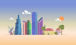 Building vector color Stock Image