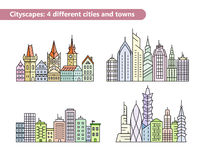 Building vector line icons Royalty Free Stock Photo