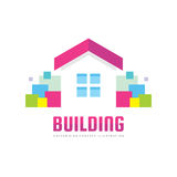 Building - vector logo concept illustration in flat style for presentation, booklet, website and other creative projects. Stock Photo