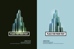 Building vector logo design template. business or Royalty Free Stock Photography