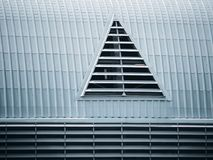Building vents mounted on buildings Stock Photo