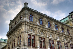 Building in Vienna. A beautiful building in Vienna with traditional architecture Stock Photo