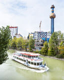 Building of the Vienna heating plant  Designed by Friedensreich Hundertwasser in Austria. Stock Photos